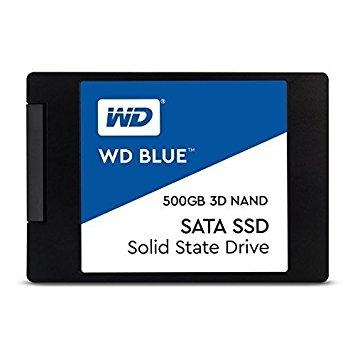 """WD Blue 500GB 2.5"""" SATA III TLC, read-write: up to 560MBs, 530MBs WDS500G2B0A"""