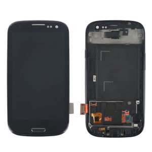 Samsung Galaxy i9300 S3 LCD with touch and frame Black Original