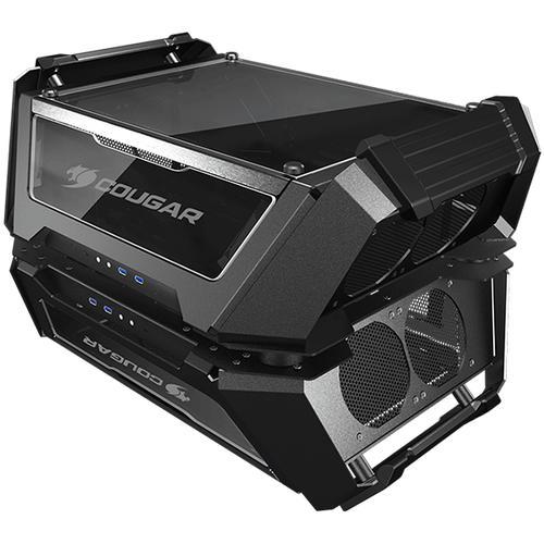 Chassis COUGAR Gemini X, Dual Tower,Primary - Mini ITX / Micro ATX / ATX / CEB, USB 3.1 Gen2 Type-C x1 / USB3.0 x 2/ Mic x 1 / Audio x 1,PSU- Standard ATX PS2,Secondary - Mini ITX,USB 3.1 Gen2 Type-C x1 / USB3.0 x 2/ Mic x 1 / Audio x 1,PSU-SFX CG105