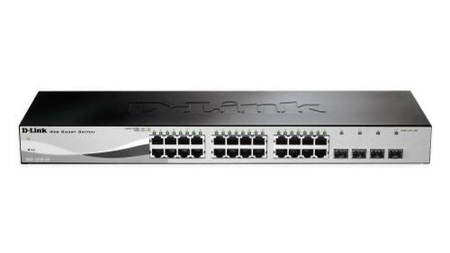 D-Link 24 10/100/1000 Base-T port with 4 x 1000Base-T /SFP ports DGS-1210-28