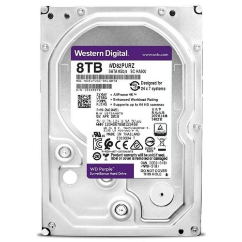 WD Purple 8TB 5400/SATA3/256MB WD82PURZ