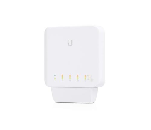 Ubiquiti USW-FLEX Комутатор Ubiquiti USW-FLEX, 5-портов Gbit, PoE In, управляем L2, Indoor/Outdoor
