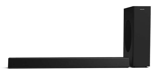 Philips SoundBar система 2, HTL3310,1-канален безжичен събуфър,160W, Bluetooth® , Dolby Digital, HDMI, ARC, черен, Цифров оптичен вход, HDMI 1.4 изход (ARC), USB, Аудио вход 3,5 мм