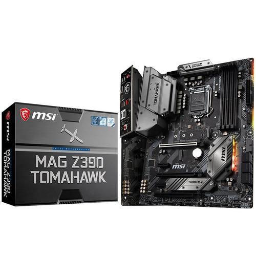 MSI Main Board Desktop Z390 (S1151, 4xDDR4, 3xPCI-Ex16, 2xPCI-Ex1, USB3.1, USB Type-C, USB2.0, 6xSATA III, 2xM.2, RAID, HDMI, DP, 2xGLAN, RGB) ATX Retail MAG_Z390_TOMAHAWK