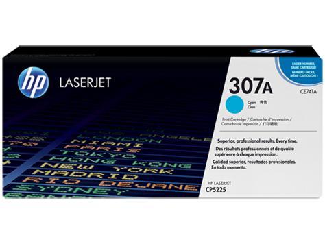 HP Консуматив 307A Original LaserJet cartridge; cyan; 7300 Page Yield ; 1 - pack; CLJ CP5225 CE741A