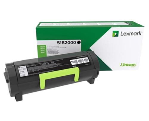 Lexmark Black CRTG, 51B2000,2,500 Pages,MS317dn, MX317dn, MS417dn, MX417dn, MS517dn, MX517de, MS617dn, MX617de, Return open channel