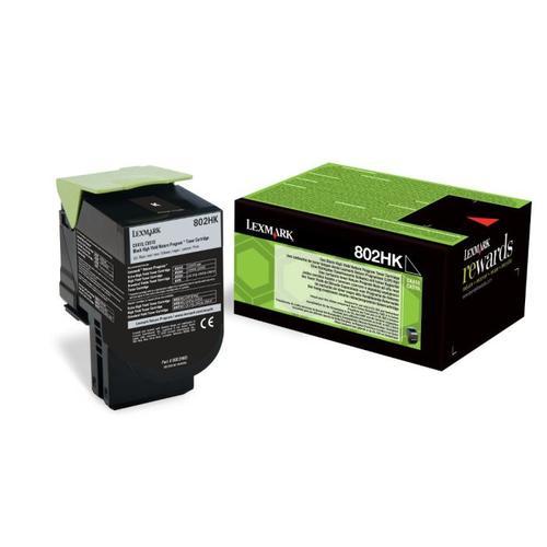 Lexmark Black High Yield Toner , 80C2HK0,4,000 pages,CX410/ CX510, Return Programme