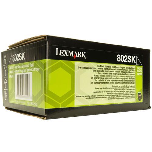 Lexmark Black Standard Yield Toner , 80C2SK0,2,500 pages,CX310/ CX410 /CX510, Return Programme