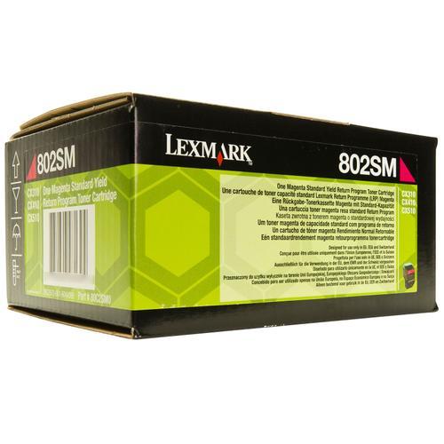 Lexmark Magenta Standard Yield Toner , 80C2SM0,2,000 pages,CX310/ CX410 /CX510, Return Programme