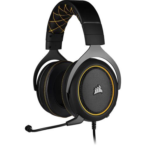 Corsair Геймърски слушалки HS60 PRO Surround Gaming Headset (50mm неодимови говорители, CA-9011214-EU, 7.1 съраунд, контрол на звука, микрофон, USB) Yellow