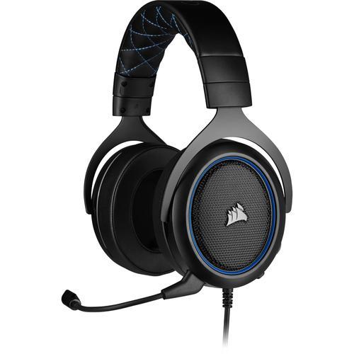 Corsair Геймърски слушалки HS50 PRO STEREO Gaming Headset (50mm неодимови говорители, CA-9011217-EU, контрол на звука, микрофон) Blue