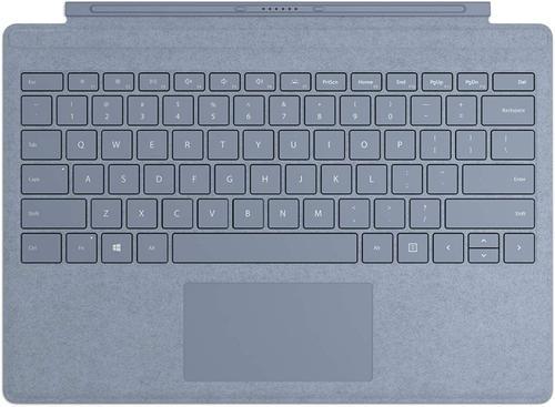 Microsoft MICROSOFT SPro7 Type Cover Colors R SC Eng Intl Hdwr Lt Ice Blue Keyboard for SPro7 Mechanical keyset, FFP-00133, Backlit keys, Large trackpad