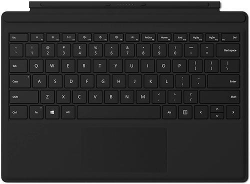 Microsoft MICROSOFT SPro7 Type Cover Colors R SC Eng Intl Hdwr Black Keyboard for SPro7 Mechanical keyset, FMM-00013, Backlit keys, Large trackpad