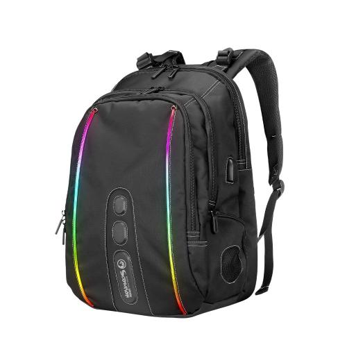 "Marvo Gaming Backpack 15.6"" RGB with Bluetooth Speaker - MARVO-BA"