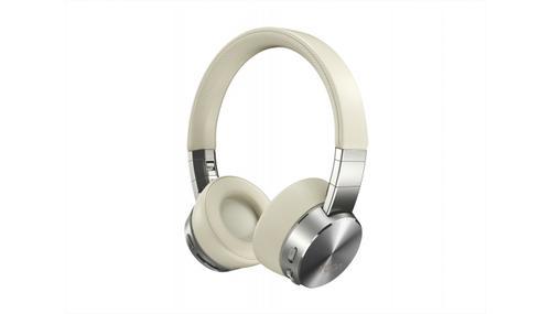 Lenovo Yoga Active Noise Cancellation Wireless Headphones, GXD0U47643, Bluetooth 5.0, USB digital audio, Beige, Silver