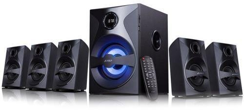 "Fenda Speaker F&D F3800X 3"" full range driver for satellites, 5.25"" bass driver for subwoofer, Innovative automatic multi-color LED, BT 4.0, USB/SD card reader, FM, LED Display F3800X"