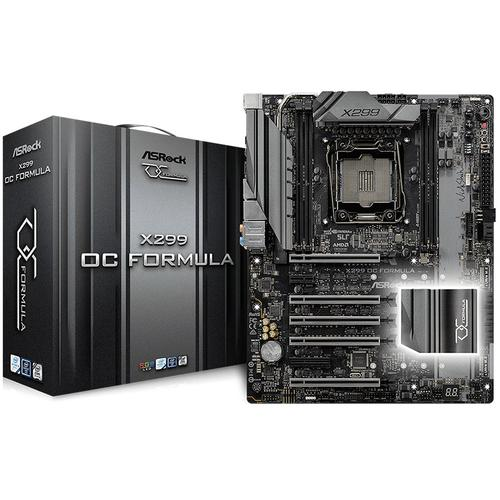 ASROCK Main Board Desktop iX299 (S2066, 4xDDR4, 5xPCIE3.0,1xPCIx1, SATA III,2xM.2,Raid,GLAN,USB3.1) ATX retail X299_OC_FORMULA_3Y