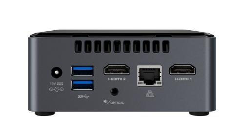 """Intel NUC kit, Pentium J5005 1.5 GHz - 2.8 GHz, 2x slot DDR4 SODIMM (max 8GB), 2.5"""" SATA SSD/HDD BOXNUC7PJYH"""