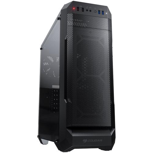 Chassis COUGAR MX331 Mesh, Mid Tower, MiniITX/MicroATX/ATX, 204x481x443(mm), USB 3.0 x 2, USB 2.0 x 2, Mic x 1 / Audio x 1, Reset Button, Mesh Front Panel, 120mm x 1( Black fan x 1 pre-installed), Transparent Left Panel, Maximum Number of Fans: 5 ma
