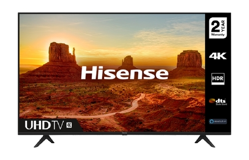 "Hisense 50"" A7100F, 4K Ultra HD 3840x2160, LED, HDR, Smart TV, WiFi, BT, 3xHDMI, 2xUSB, LAN, DVB-T2/C/S2, Black 50A7100F"