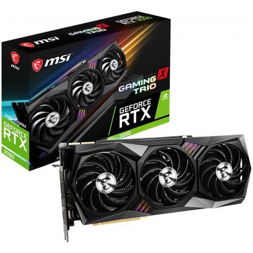 MSI Video Card NVidia GeForce RTX 3090 GAMING X TRIO 24G, GDDR6X 24GB/384bit, Boost:1785 MHz, PCIE-4.0, DisplayPort x3 (v1.4a), HDMI 2.1 x1, Tri Frozr Fan, TORX FAN 4.0, Retail RTX_3090_GAMING_X_TRIO_24G