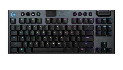 Logitech G915 TKL Tenkeyless LIGHTSPEED Wireless RGB Mechanical Gaming Keyboard - GL Clicky - CARBON - US INTL - INTNL 920-009537