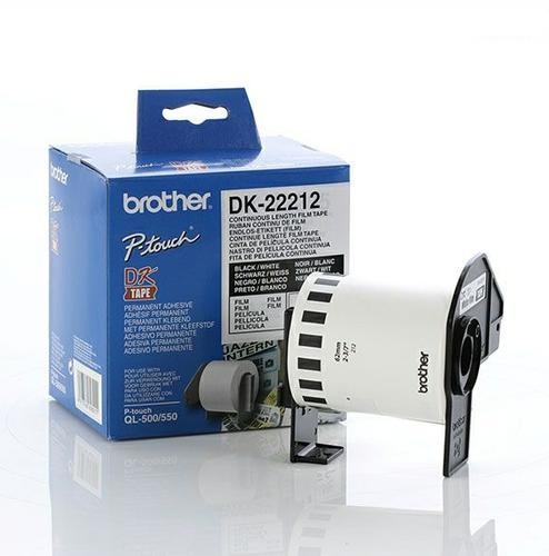 Brother DK-22212 White Continuous Length Film Tape 62mm x 15.24m DK2221