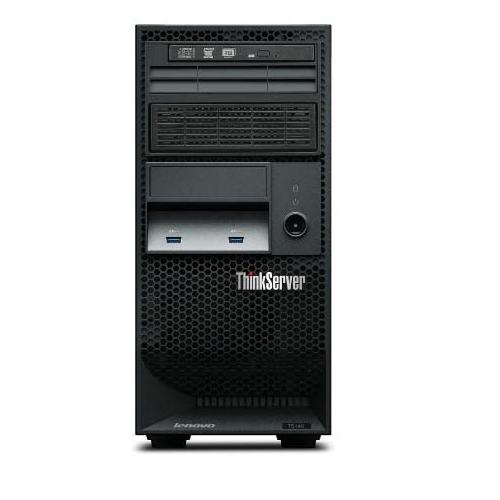 """Lenovo ThinkServer TS140, E3-1226v3,1x4GB (1Rx8, 1.35V, 1600MHz ECC UDIMM), 3.5"""" (4), RAID 100 0/1/10/5, DVDRW, 450W 92% Fixed PSU, 3Y NBD Onsite 70A5001REU"""
